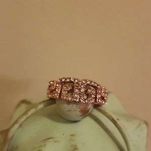 Jewelry - 18k rose gold plated vertical and horizontal ring